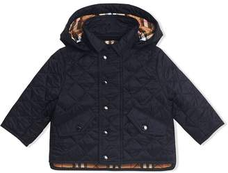 c432acec7 Burberry Diamond Quilted Hooded Jacket