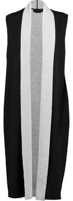 Alice + Olivia Alice+olivia Laurie Draped Stretch-Wool Vest