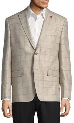 TailoRED Windowpane Sports Coat