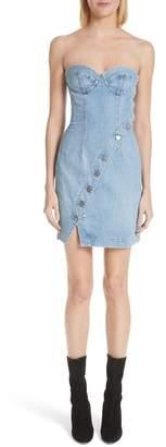 Atelier Jean Claudia Strapless Denim Dress