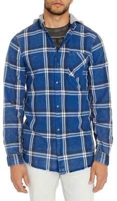Buffalo David Bitton Plaid Hooded Shirt