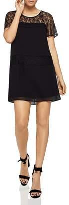 BCBGeneration Lace-Inset Cutout Shift Dress