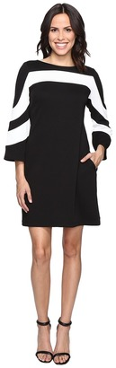 Christin Michaels Erin Bell Sleeve A-Line Crepe Dress $98 thestylecure.com