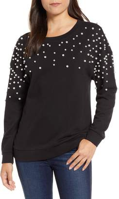 Halogen Beaded Sweatshirt