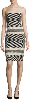 Tracy Reese Strapless Column Sheath Dress