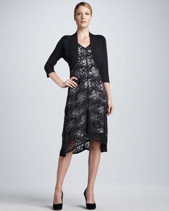 Eileen Fisher Crinkle Knit Shrug
