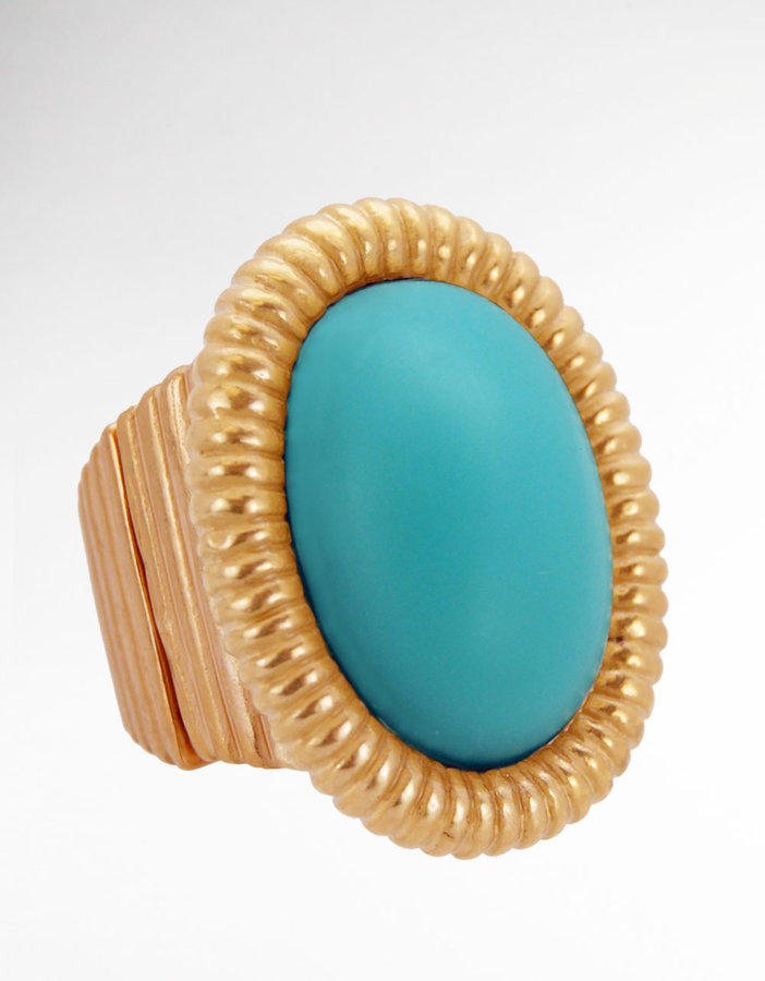 T. TAHARI Faux Turquoise Cocktail Ring