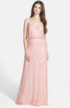 Adrianna Papell Beaded Chiffon Blouson Gown $298 thestylecure.com