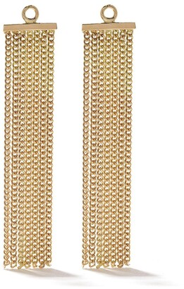 Wouters & Hendrix Gold 18kt yellow gold Chain Tassel earring accessory