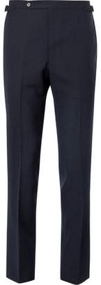 Husbands Navy Slim-Fit Wool Trousers