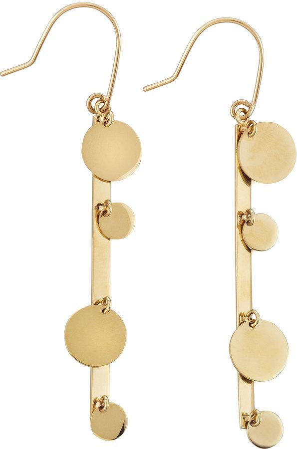 Lana 14k Gold Boho Bar Earrings
