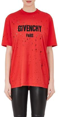 Givenchy Women's Destroyed Cotton T-Shirt