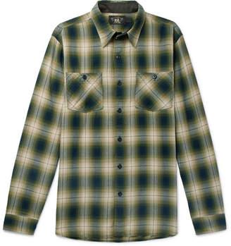 RRL Checked Cotton-Blend Shirt