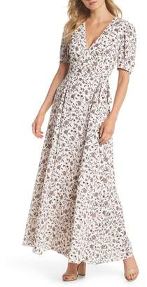 Gal Meets Glam Millie Floral Faux Wrap Maxi Dress