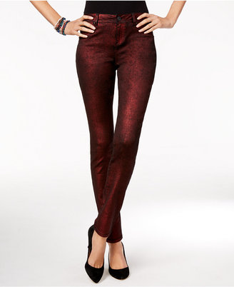 INC International Concepts Metallic Skinny Jeans, Only at Macy's $89.50 thestylecure.com