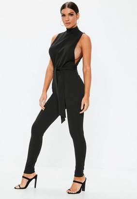 Missguided Black Tapered Drop Armhole Romper