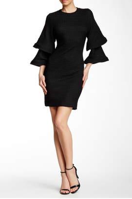 Gracia Crease Bell-Sleeved Dress