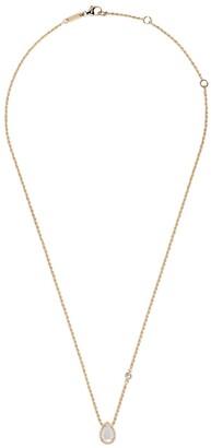 Boucheron 18kt yellow gold Serpent Bohème mother-of-pearl teardrop and diamond XS motif pendant necklace