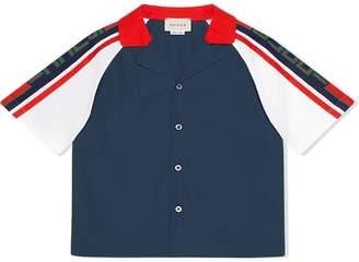 Gucci Kids Children's poplin shirt with stripe