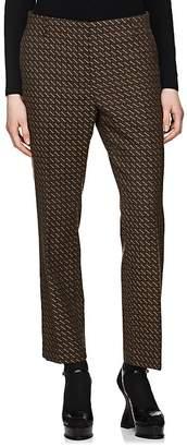 Dries Van Noten Women's Geometric Jacquard Slim Trousers