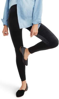 Madewell High Rise Velvet Leggings