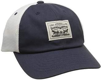 Levi s Men s 2-Horse Patch Cap Flat (Navy Blue) 32312adae450