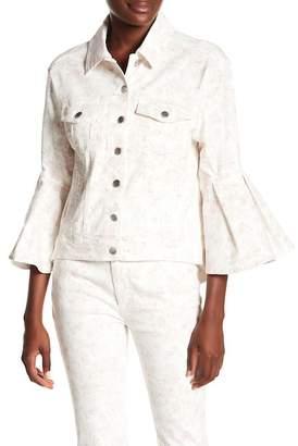 Rachel Roy Floral Print Trucker Jacket