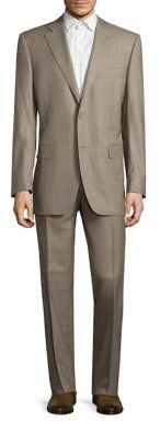 Canali Single Breasted Wool Suit $1,895 thestylecure.com