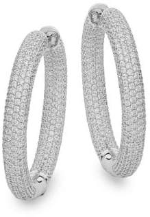 Lafonn Sterling Silver Hoop Earrings