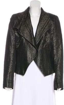 J. Mendel Metallic Asymmetrical Collared Jacket