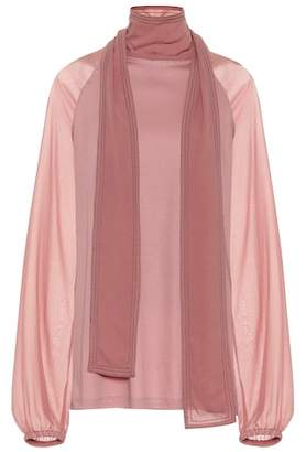 Schumacher Dorothee Tender Flow cotton and silk top