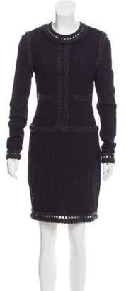 Chanel Wool-Blend Knit Dress