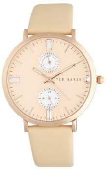 Ted Baker Plated Stainless Steel Multifunction Watch