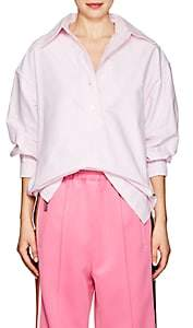 Marc Jacobs WOMEN'S COTTON OXFORD CLOTH OVERSIZED BLOUSE-LIGHT PINK SIZE 0