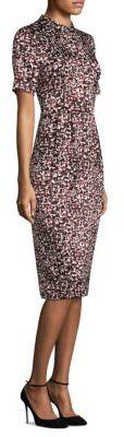 DKNY Short Sleeve Mockneck Sheath Dress