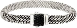 Jai JAI Sterling Silver Mesh Bracelet w/ Pave Gemstone Clasp