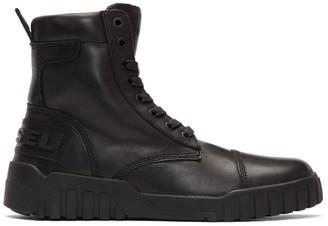 Diesel Black H-Rua AM High-Top Sneakers