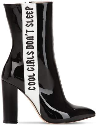 100mm Cool Girls Patent Leather Boots
