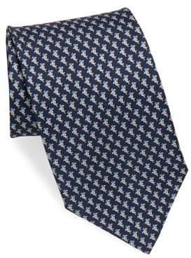 Salvatore Ferragamo Silk Shark Crown Tie