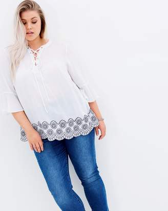 Island Nomad Embroidered Top