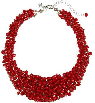 Panacea Crystal Bead Statement Necklace