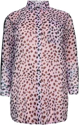 Next Womens Glamorous Curve Leopard Print Shirt