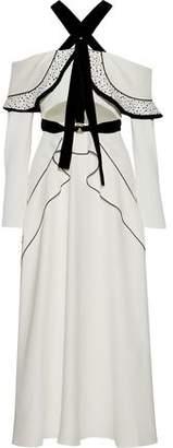 Proenza Schouler Off-the-shoulder Ruffled Cutout Woven Maxi Dress