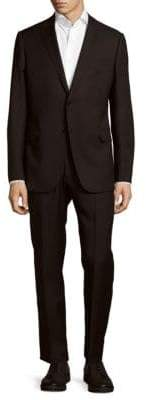 Armani Collezioni Wool Solid Two-Button Suit