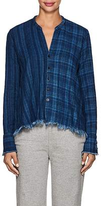 Greg Lauren Women's Checked Cotton Flannel Studio Shirt