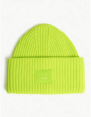 fbc5fc96 Acne Studios Pansy Face oversized knitted wool beanie