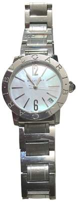 Bulgari Stainless Steel & Mother of Pearl Dial 33mm Womens Watch