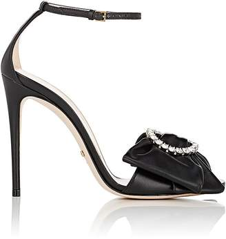 Gucci Women's Isle Leather Ankle-Strap Sandals