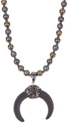 Natasha Accessories Long Beaded Horseshoe Necklace $19.97 thestylecure.com