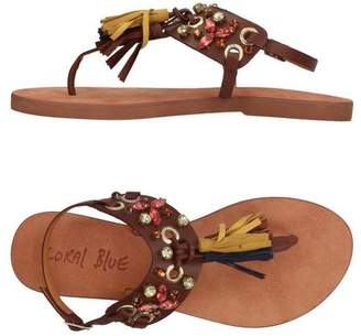 Sandale Post Corail Orteil Bleu 0uWjSMAlf